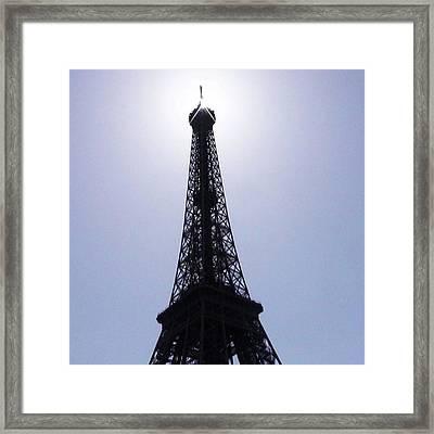 Sunny Eiffel Tower #naturephotography Framed Print