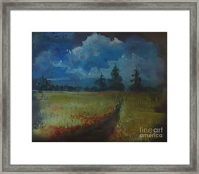 Sunny Field Framed Print by Christina Verdgeline