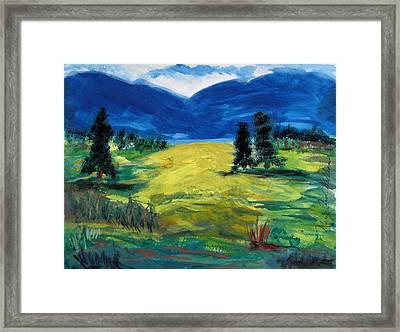 Sunny Field Framed Print by Mary Carol Williams