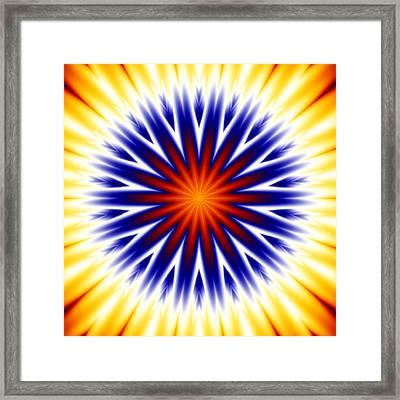 Sunny Fractal Tie Dye Framed Print