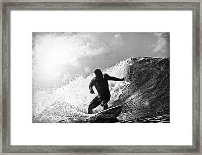 Sunny Garcia In Black And White Framed Print