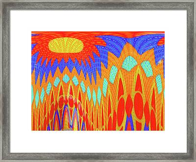 Sunny Garden Framed Print by Ann Johndro-Collins
