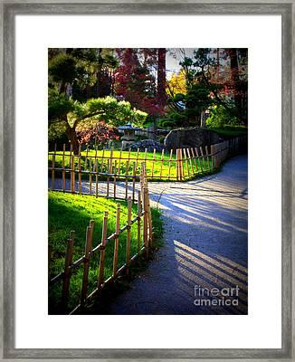 Sunny Garden Path Framed Print