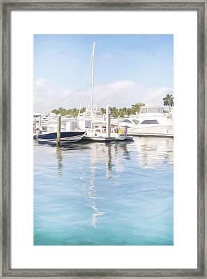 Sunny Harbor Framed Print