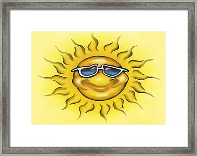 Framed Print featuring the painting Sunny by Kevin Middleton