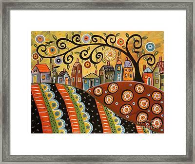 Sunny Landscape Framed Print by Karla Gerard