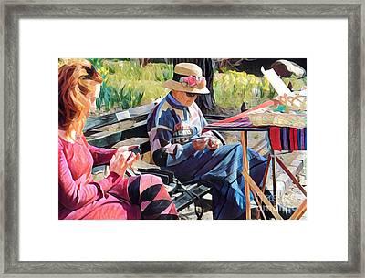 Sunday In The Park - Central Park New York Framed Print by Miriam Danar