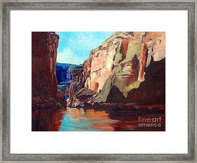 Sunny Morning On The Mighty Colorado Framed Print