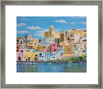 Sunny Noon In Italy Framed Print by Kishan Patel