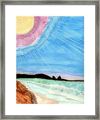 Sunny Ocean Days Are Bigger Than Life Framed Print by Connie Valasco