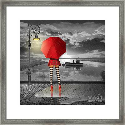 Sunny Outlook Framed Print by Monika Juengling