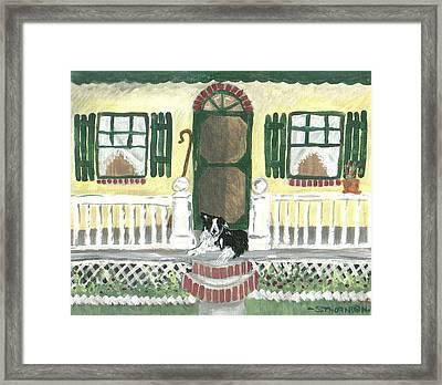 Sunny Porch Framed Print by Sue Ann Thornton