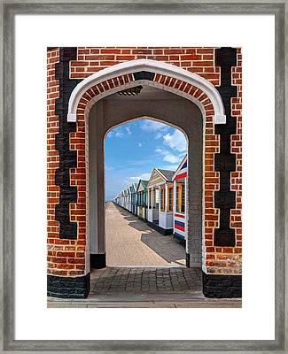 Sunny Promenade Framed Print by Gill Billington