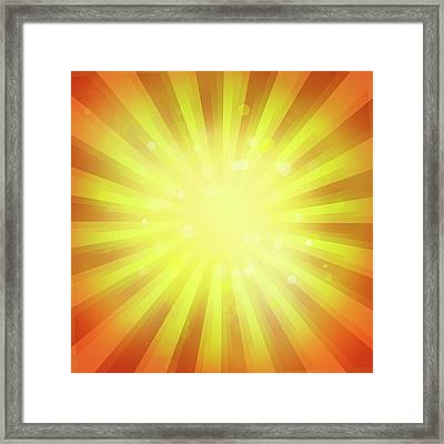 Sunny Rays Framed Print by Les Cunliffe
