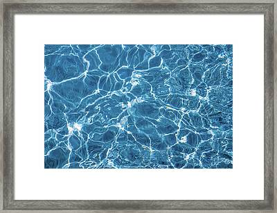 Framed Print featuring the photograph Sunny Reflections On Tropical Water by Jenny Rainbow