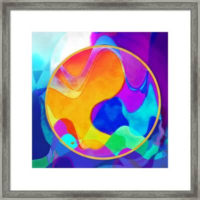 Sunny Sea Unbordered Framed Print by Mathilde Vhargon