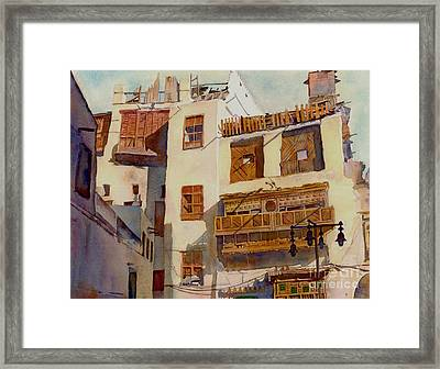 Sunny Shutters Arabia Framed Print by Dorothy Boyer