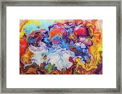 Sunny Side Of The Street - Colorful Psychedelic Abstract Painting Framed Print by Modern Art Prints