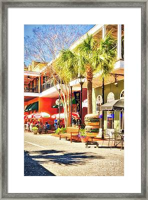 Framed Print featuring the photograph Sunny Side Of The Street by Mel Steinhauer