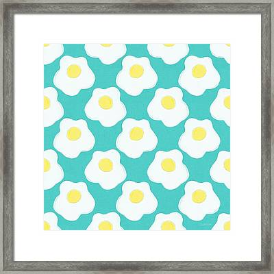 Sunny Side Up Eggs- Art By Linda Woods Framed Print