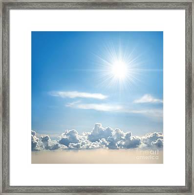 Sunny Sky Framed Print by Carlos Caetano