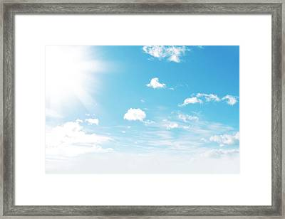 Sunny Sky Framed Print by Les Cunliffe