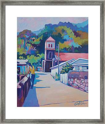 Sunny Soufriere Framed Print