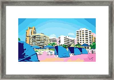 Sunny South Beach Miami Framed Print