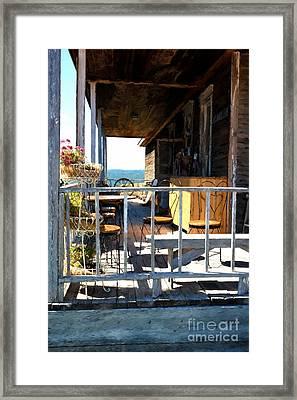 Sunny South Dakota Porch Framed Print by Mel Steinhauer