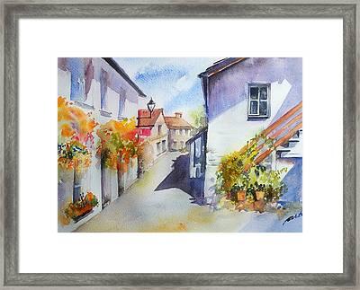 Sunny Street Framed Print