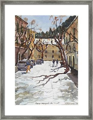 Sunny Street, Valledemossa Framed Print