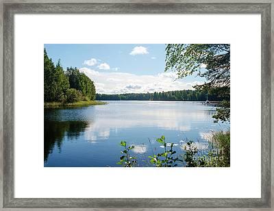 Sunny Summer Day In Kangaslampi Finland Framed Print