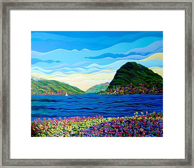 Sunny Swiss-scape Framed Print