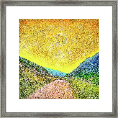 Sunny Trail - Marin California Framed Print