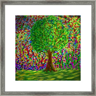 Framed Print featuring the painting Sunny Tree by Kevin Caudill