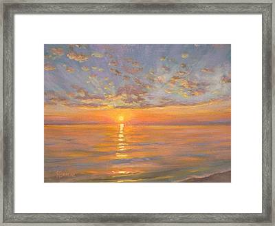 Sunny Waves Framed Print