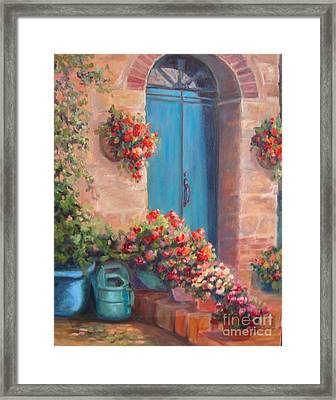 Sunny Welcome Framed Print by Kathy Brusnighan