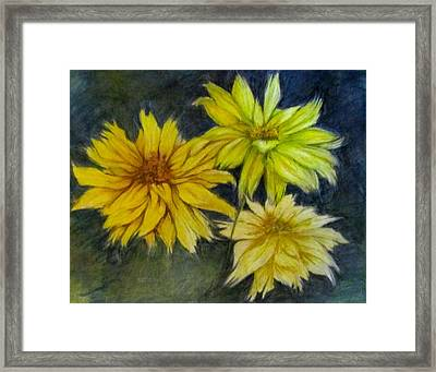 Sunny Yellow Framed Print