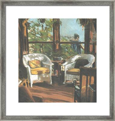 Sunporch Framed Print by Linda Crockett
