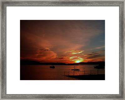 Sunraise Over Lake Framed Print