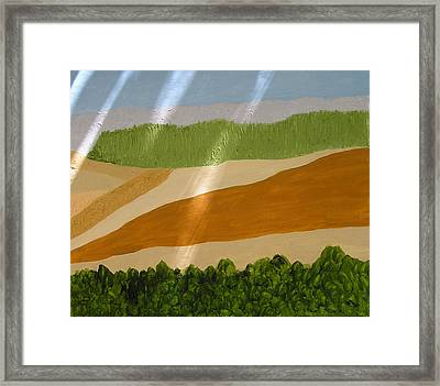 A Vista Of Valleys Framed Print by Harris Gulko
