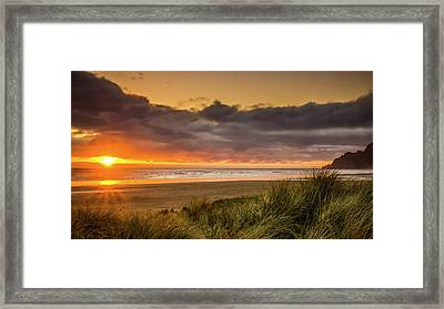Sunrays Over Manzanita Framed Print