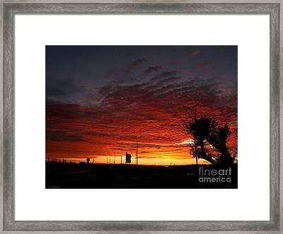 Sunrise 01 Framed Print by Arik Baltinester