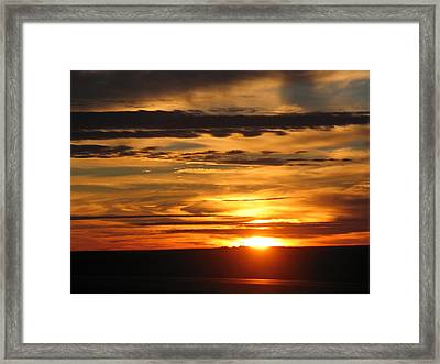 Framed Print featuring the photograph Sunrise 1 by David Dunham