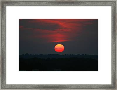 Framed Print featuring the photograph Sunrise 2 by David Dunham