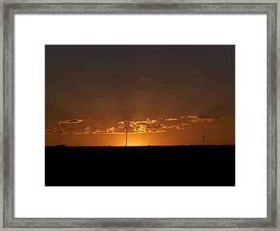 Sunrise 2 Framed Print by Travis Wilson