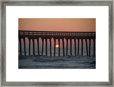 Sunrise - 32nd Street Pier - Avalon New Jersey Framed Print by Bill Cannon