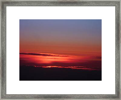 Sunrise A Different View Framed Print by Diannah Lynch