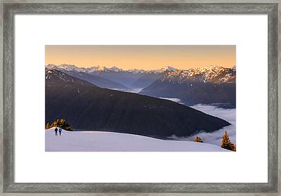 Framed Print featuring the photograph Sunrise Above The Clouds by Dan Mihai