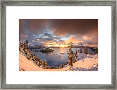 Sunrise After Summer Snowfall Framed Print by Greg Nyquist